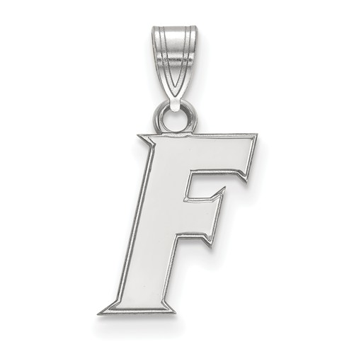 Sterling Silver 1/2in University of Florida F Pendant