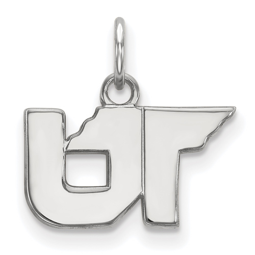 Sterling Silver 3/8in University of Tennessee UT Pendant