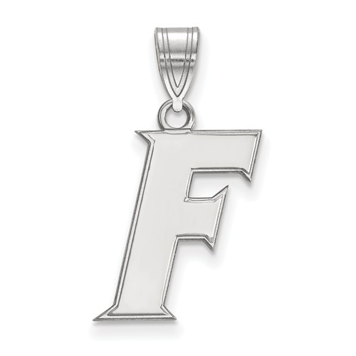 Sterling Silver 5/8in University of Florida F Pendant