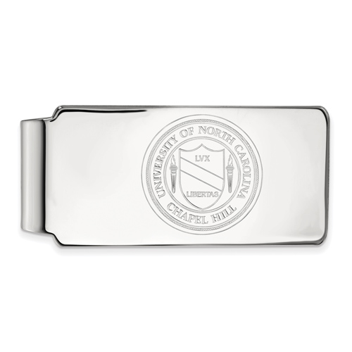 Sterling Silver University of North Carolina Crest Money Clip