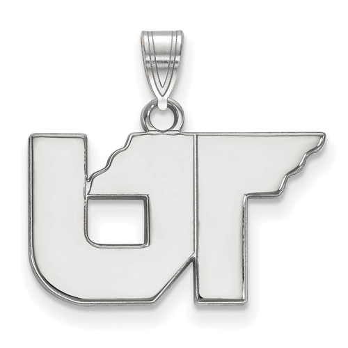 Sterling Silver 1/2in University of Tennessee UT Pendant