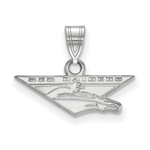 Sterling Silver 3/8in Texas Tech University RED RAIDERS Pendant