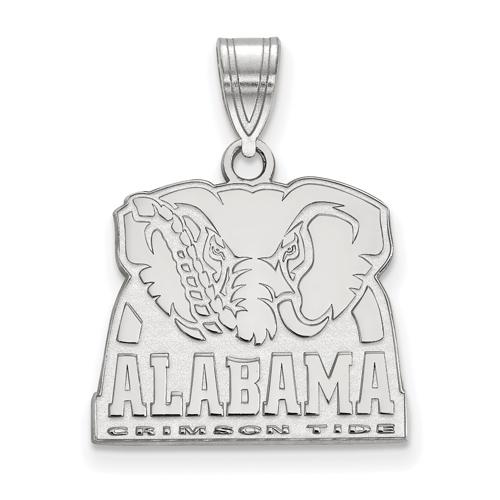 Sterling Silver 5/8in University of Alabama Big Al Pendant