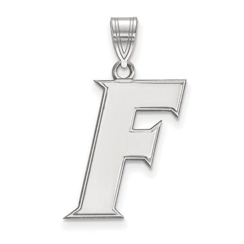 Sterling Silver 3/4in University of Florida F Pendant