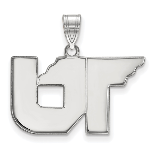 Sterling Silver 5/8in University of Tennessee UT Pendant