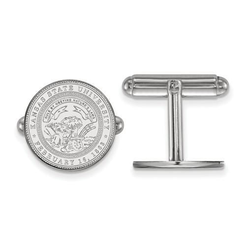 Kansas State University Crest Cuff Links Sterling Silver