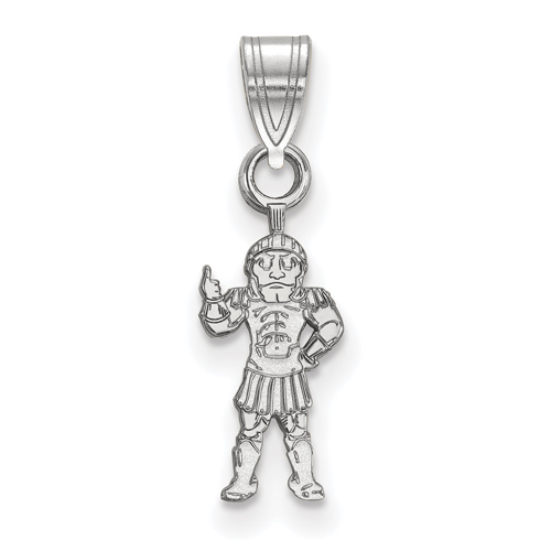 Sterling Silver 1/2in Michigan State University Sparty Pendant