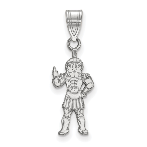 Sterling Silver 3/4in Michigan State University Sparty Pendant