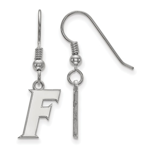 Sterling Silver University of Florida F Dangle Wire Earrings