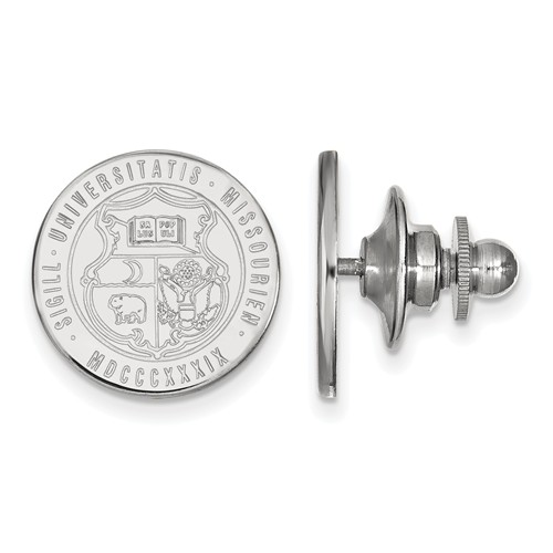 Sterling Silver University of Missouri Crest Lapel Pin