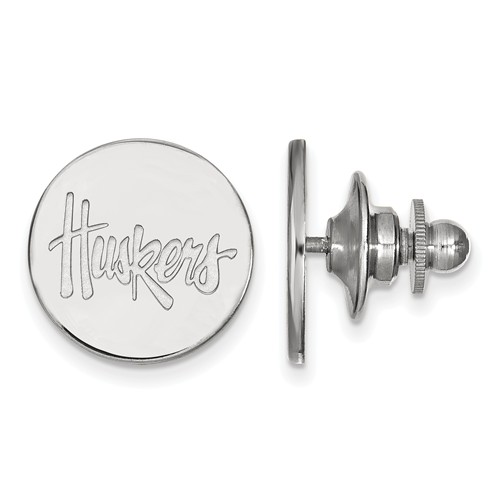Sterling Silver University of Nebraska Huskers Lapel Pin