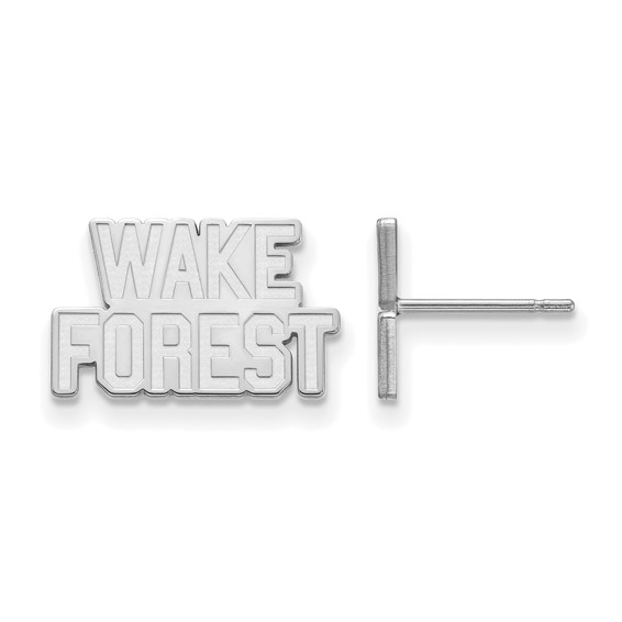 Sterling Silver Wake Forest University Logo Extra Small Earrings