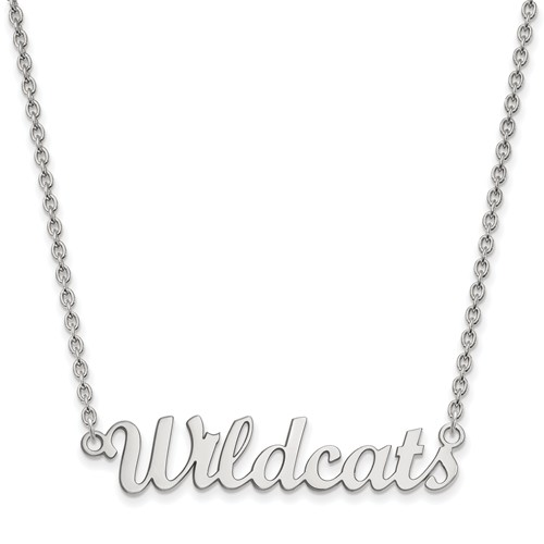 Kansas State University Wildcats Script Necklace Sterling Silver