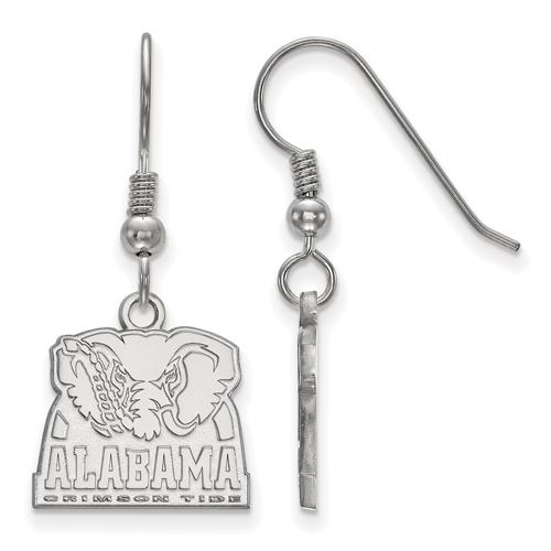 Sterling Silver University of Alabama Big Al Dangle Wire Earrings