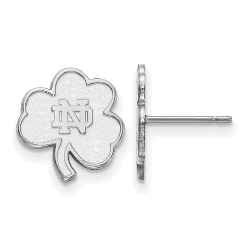 Sterling Silver University of Notre Dame Clover Extra Small Earrings