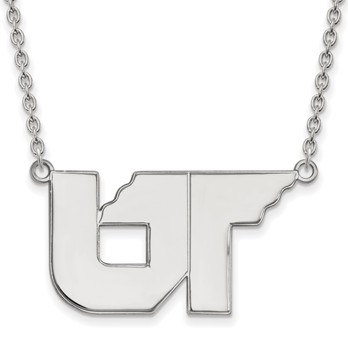 Sterling Silver University of Tennessee UT Logo Pendant with 18in Chain