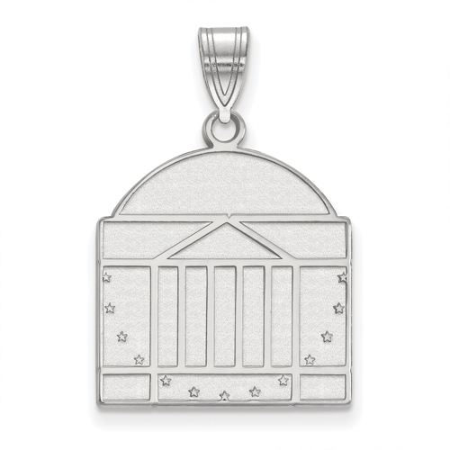 Sterling Silver 3/4in University of Virginia Rotunda Pendant