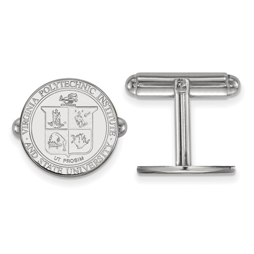 Sterling Silver Virginia Tech Crest Cuff Links