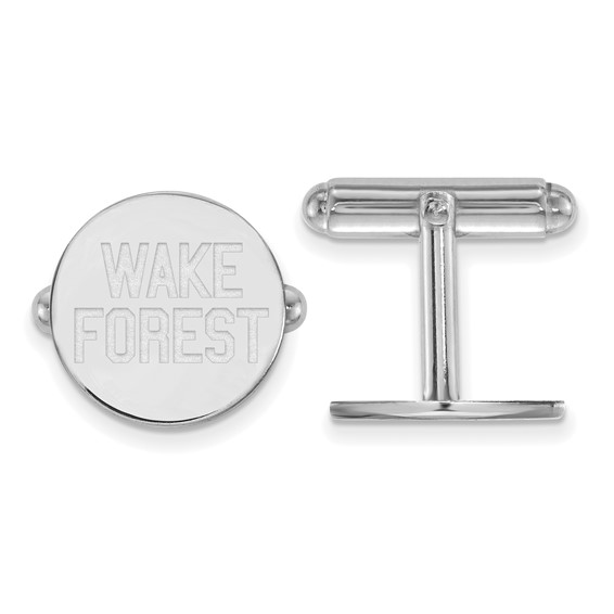 Wake Forest University Round Cuff Links Sterling Silver