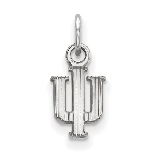 Sterling Silver 3/8in Indiana University Striped Logo Pendant