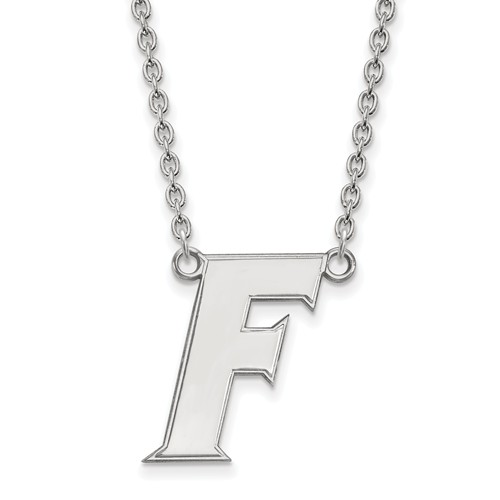 Sterling Silver University of Florida F Pendant with 18in Chain