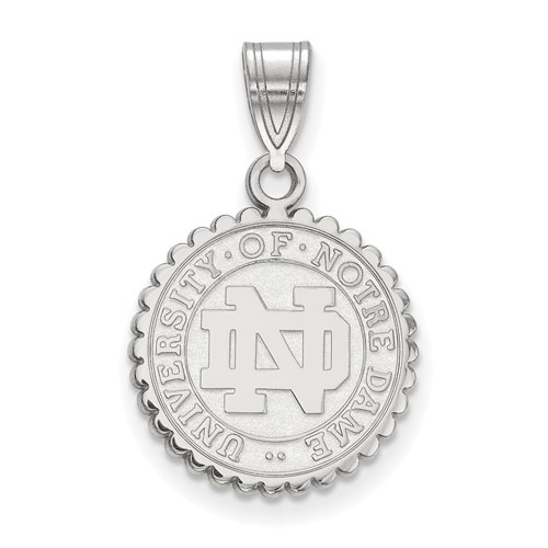 Sterling Silver 5/8in University of Notre Dame Crest Pendant