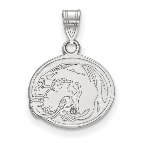 Sterling Silver 1/2in University of Tennessee Smokey Oval Pendant