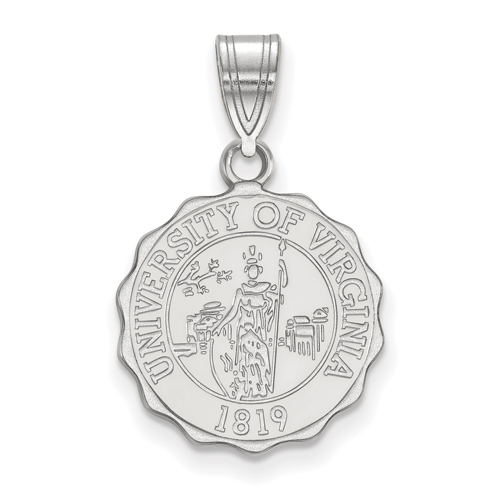Sterling Silver 5/8in University of Virginia Crest Pendant