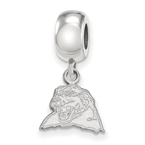 Silver University of Pittsburgh Panther Extra Small Dangle Bead Charm
