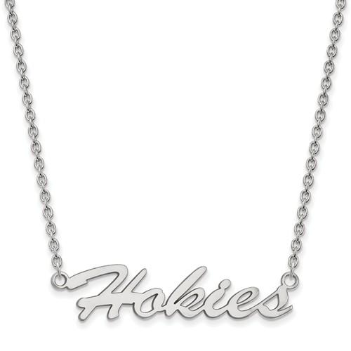 Sterling Silver Virginia Tech Hokies Necklace