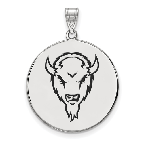 Sterling Silver 1in Marshall University Marco Round Enamel Pendant