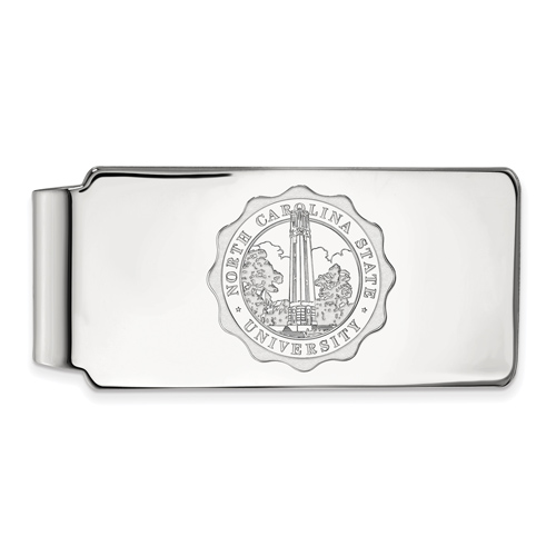 Sterling Silver North Carolina State University Crest Money Clip