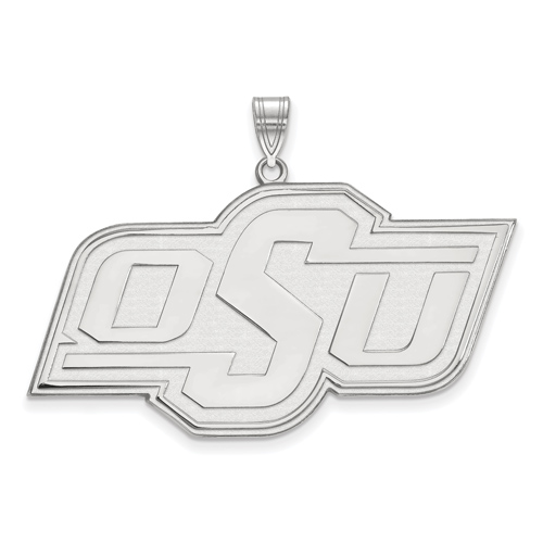 Sterling Silver 1in Oklahoma State University OSU Pendant