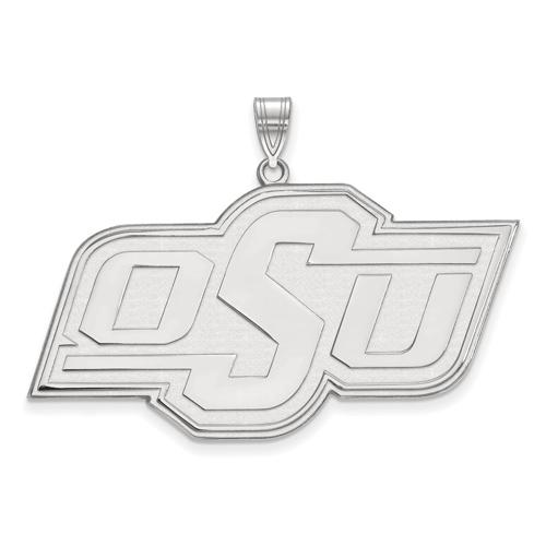Sterling Silver 1in Oklahoma State University OSU Pendant