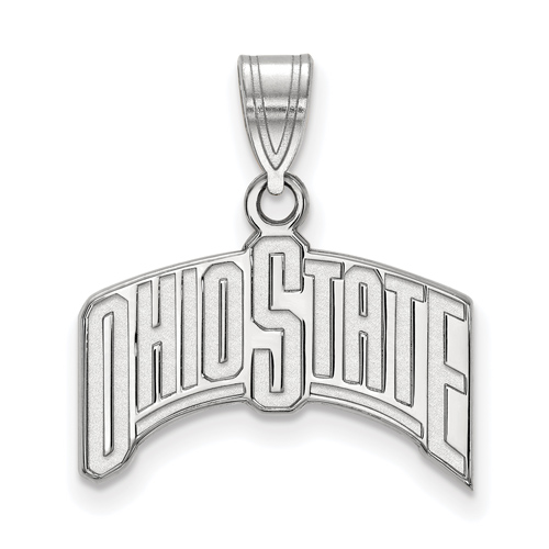 Sterling Silver Ohio State University Arched Pendant