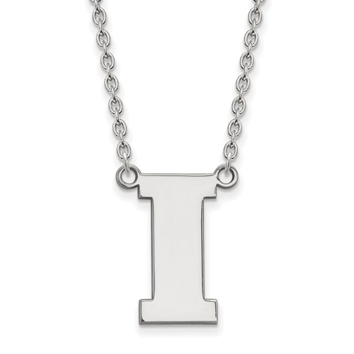 University of Iowa Block I Necklace Sterling Silver