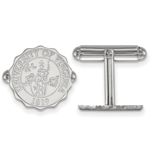 Sterling Silver University of Virginia Crest Cuff Links