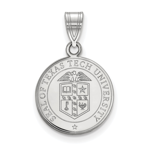 Sterling Silver 5/8in Texas Tech University Crest Pendant
