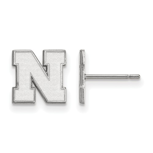 Sterling Silver University of Nebraska N Extra Small Post Earrings