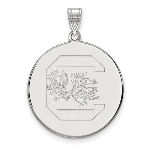 Sterling Silver 1in University of South Carolina Disc Pendant