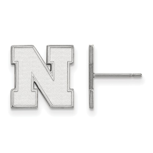 Sterling Silver University of Nebraska Small Post Earrings
