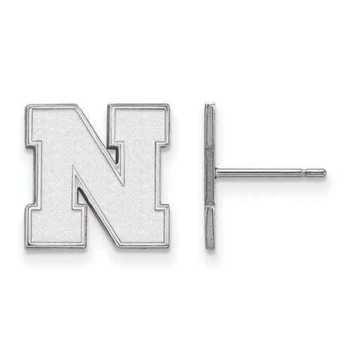 Sterling Silver University of Nebraska Small Post Earrings