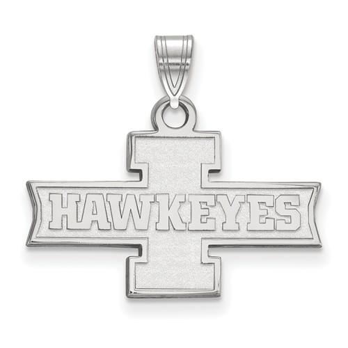 University of Iowa Hawkeyes Pendant 1/2in 14k White Gold