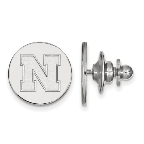 Sterling Silver University of Nebraska N Lapel Pin