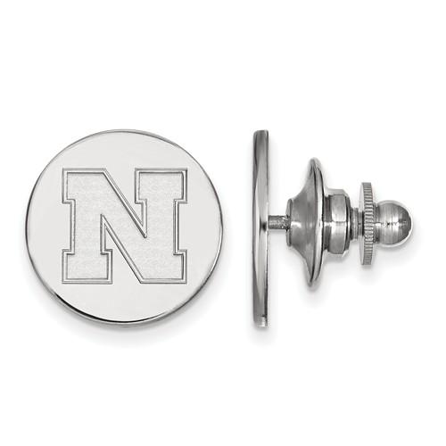 Sterling Silver University of Nebraska N Lapel Pin