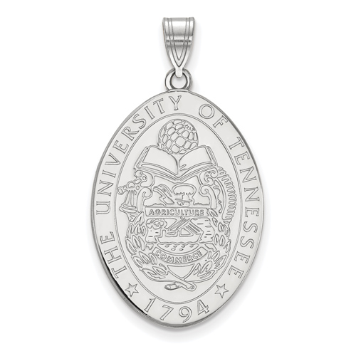 Sterling Silver 1in University of Tennessee Crest Pendant