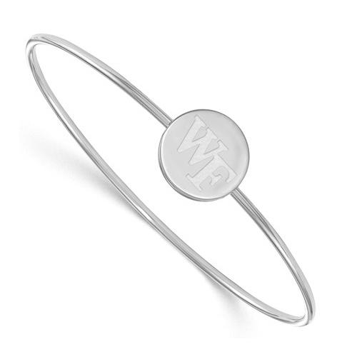 Sterling Silver Wake Forest University Slip-on Bangle Bracelet 7in