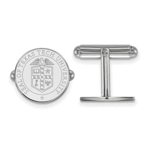 Sterling Silver Texas Tech University Crest Cuff Links