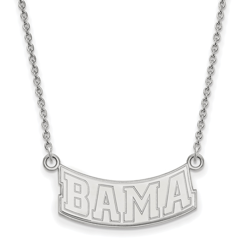 Sterling Silver 1/2in BAMA Pendant with 18in Chain