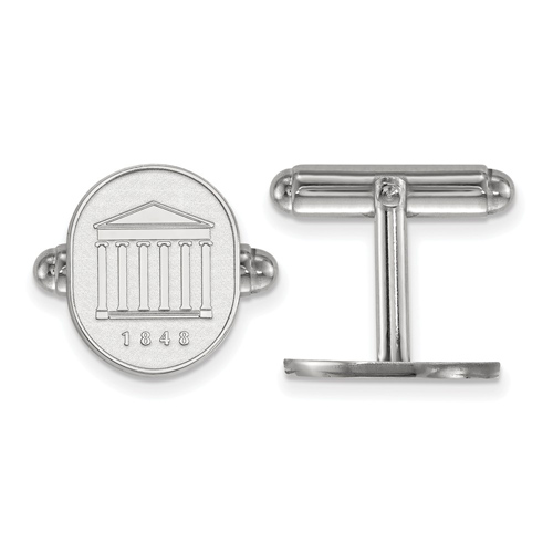 Sterling Silver University of Mississippi Crest Cuff Links